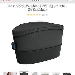 HoMedics UV-Clean Soft Bag on-The-Go Sanitizer